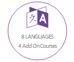 8 languages and 4 Addon courses